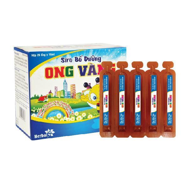 Siro bổ dưỡng Ong Vàng (Hộp 20 ống x 10 ml)