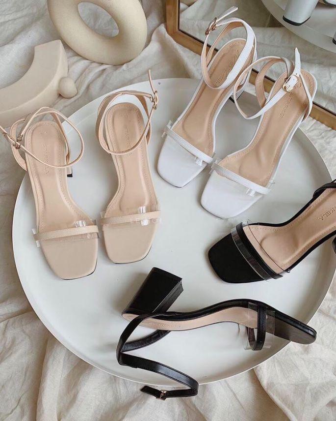 Sandal cao gót quai phối mica siêu xinh cao 6cm dáng hàn quốc - mã 154 giá rẻ