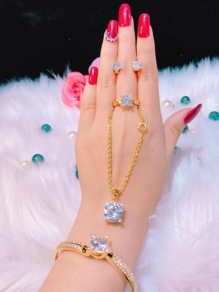 [GIẢM CỰC MẠNH] Bộ trang sức vàng Gadoshop VB05101920 -  làm quà tặng bất ngờ vô cùng ý nghĩa