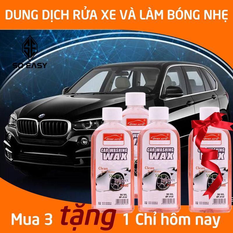 Nước rửa xe ô tô đậm đặc 1:100,Mua 3 tặng 1, chai dung dịch rửa và làm bóng xe hơi, ôtô, xe máy, honda, moto, xe tải, xe khách sáng bóng tạo bọt hương thơm dung tích 90ml_ C087-NRX