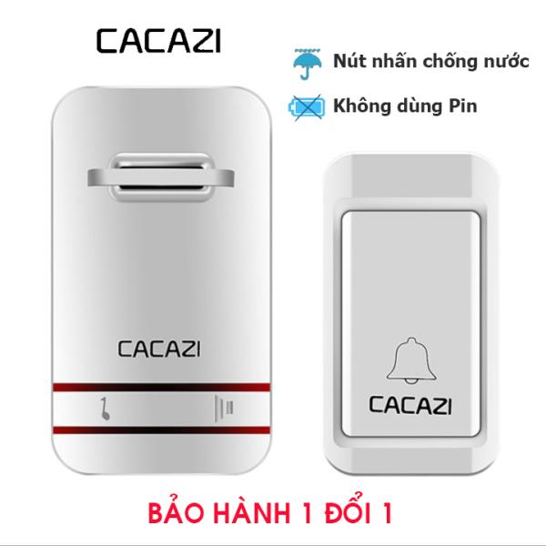 Chuông cửa không dây chống nước, không dùng pin CACAZI (Bản cao cấp)