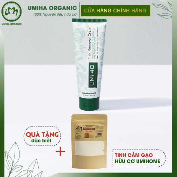 Kem tẩy lông Umi 4C (100ml) dùng tẩy lông Vùng kín, Bikini, Nách, Chân, Tay, Bụng, Ngực tại nhà an toàn cho da nhạy cảm
