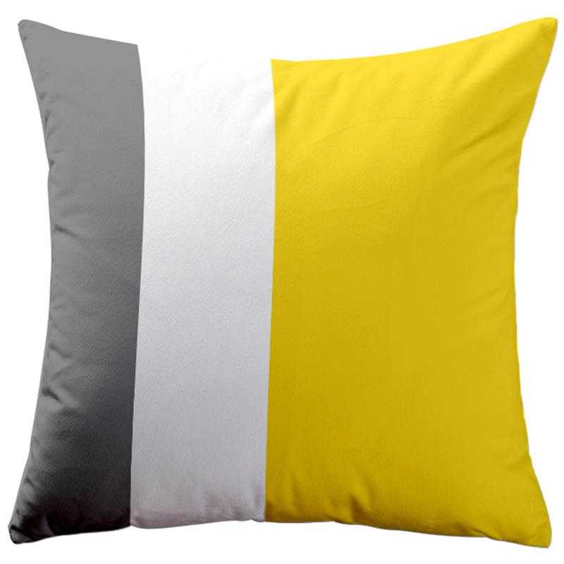 Qibei Northern Europe Yellow Pillow Blanket Dual Purpose Simple Stripes Lemon Yellow Living Room Sofa throw pillow Big Back throw pillow Lumbar Pillow