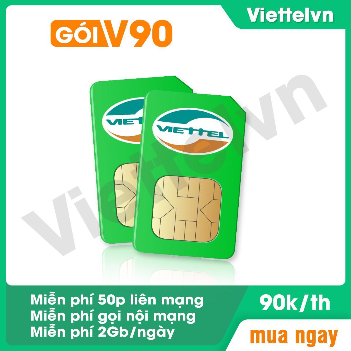 Giá Tiết Kiệm Để Sở Hữu Ngay Sim 4G 10 Số Viettel V90 (60Gb + 4350 Phút Gọi Miễn Phí / Tháng) Viettelvn.