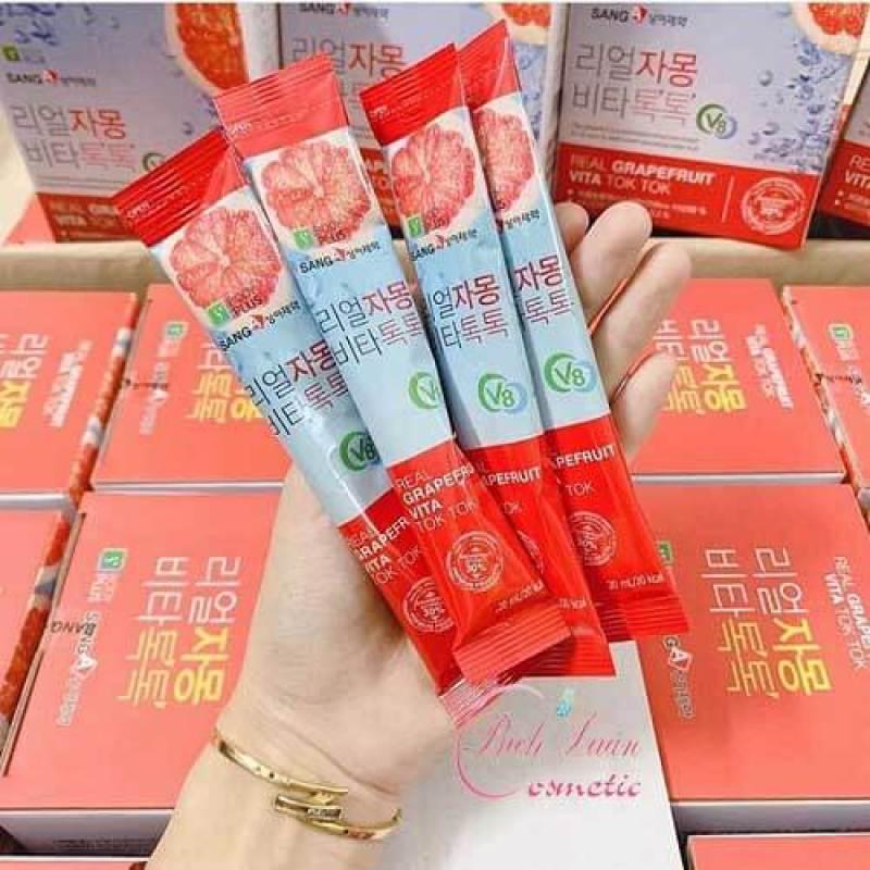 Nước ép bưởi giảm cân Sanga Real Grapefruit Vita Tok Tok cao cấp