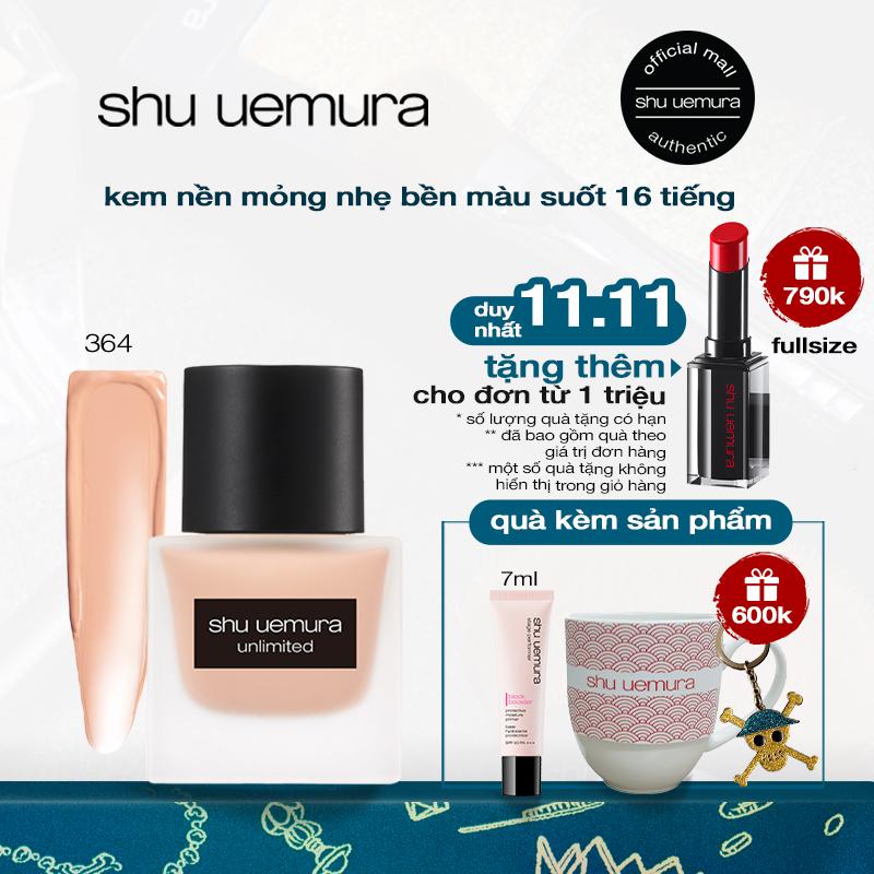 kem nền mỏng nhẹ chuẩn bền shu uemura unlimited fluid foundation 35ml