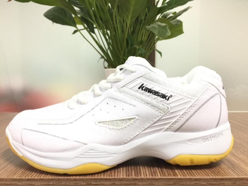 Giày Kawasaki K077 mầu trắng (chuyên cầu lông/ bóng chuyền/Bóng bàn)