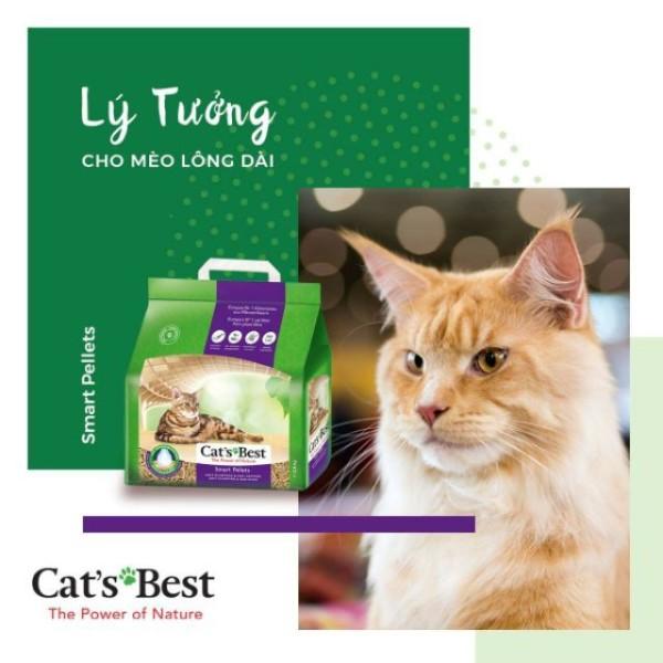 Cát Vệ Sinh Hữu Cơ Vón Cục Cho Mèo Lông Dài Smart Pellets CatS Best 10L