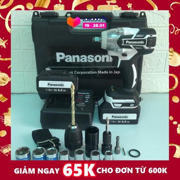 [Fullbox] Máy siết bulong Panasonic 118V LỰC SIẾT 550Nm Phụ kiện đi kèm như hình