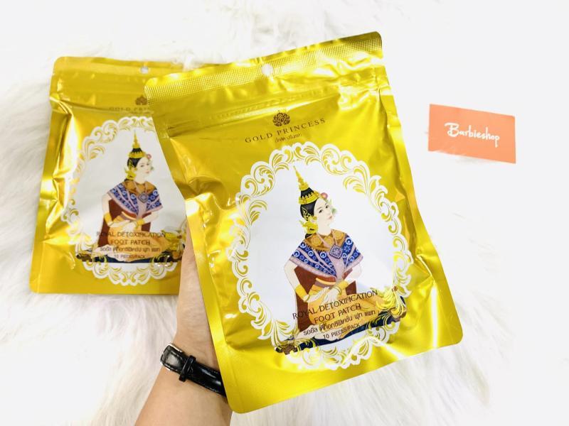 Miếng dán thải độc chân Chùa Vàng Gold Princess Thái Lan cao cấp