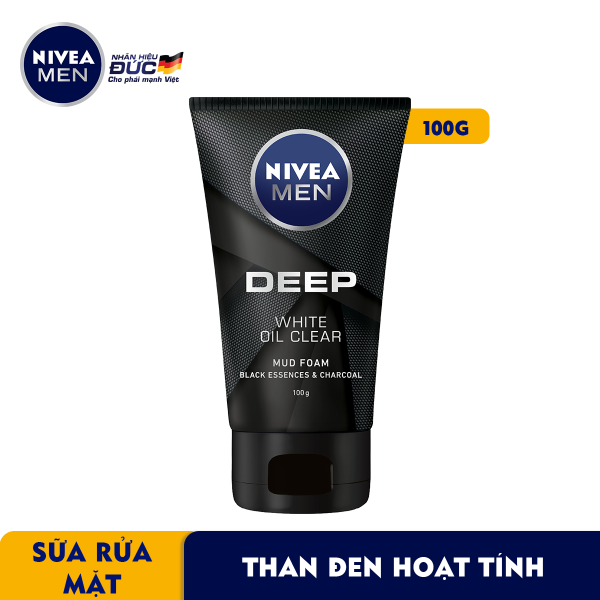 Sữa Rửa Mặt NIVEA MEN DEEP Than Đen Hoạt Tính Hút Nhờn Sáng Da (100G) - 84415 giá rẻ