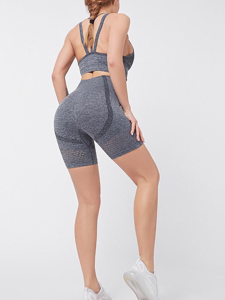 Bộ đồ tập gym, yoga nữ quần ngắn - Chính hãng AbsNCore - 5 màu