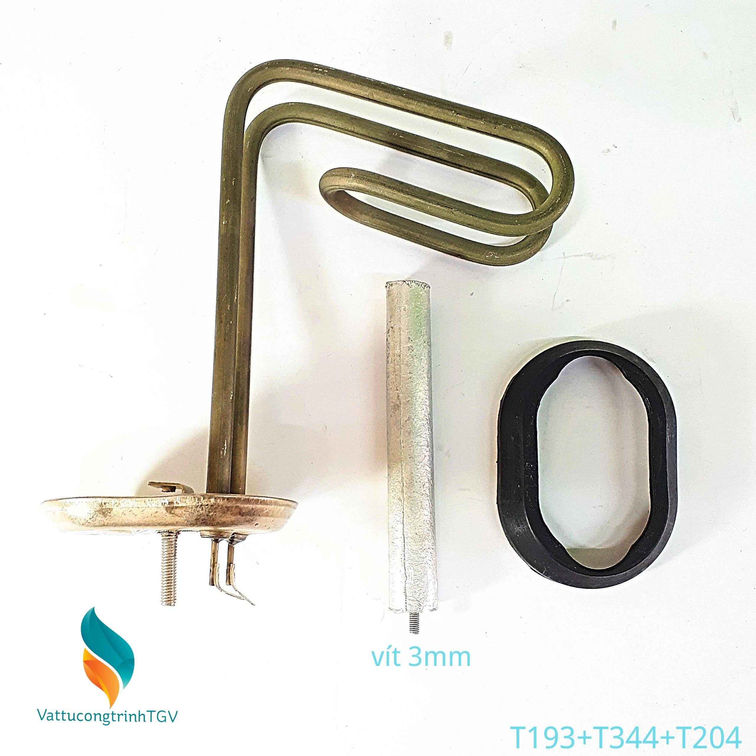 Bộ sợi đốt bát 6,5*20+13cm + Zoăng + Thanh magie 3mm cho Bình nóng lạnh ARISTON 15L (193+344+204)