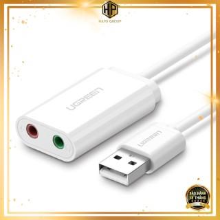 Cáp USB ra âm thanh Ugreen 30143 hỗ trợ loa và mic màu trắng chính hãng - Hapugroup thumbnail