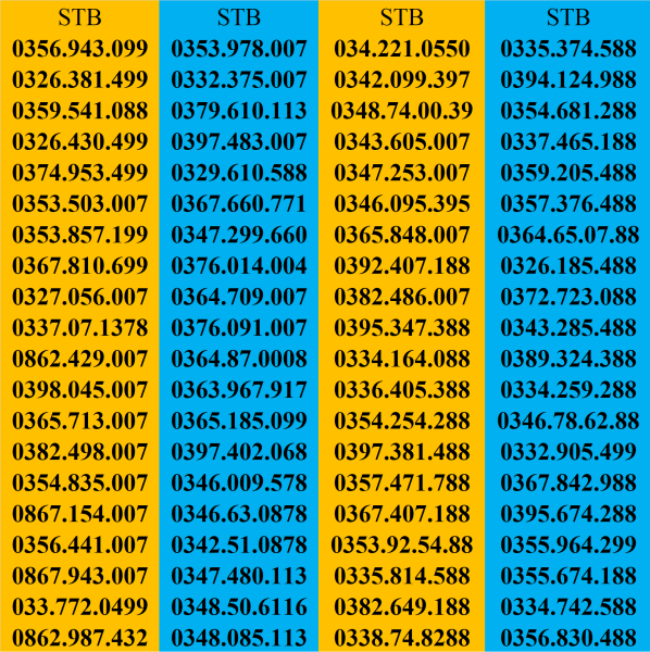 Giá SIM SỐ ĐẸP, SIM DỄ NHỚ, SIM CẶP GÁNH, SIM SỐ ĐẸP PHONG THỦY
