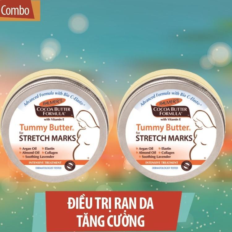 Compo 2 Hộp Bơ Đậm Đặc Ngăn Ngừa Và Giảm Rạn cho Mẹ khi Mang Thai an toàn 100% cho Mẹ và Bé - 125g (Palmer's - Made in USA)