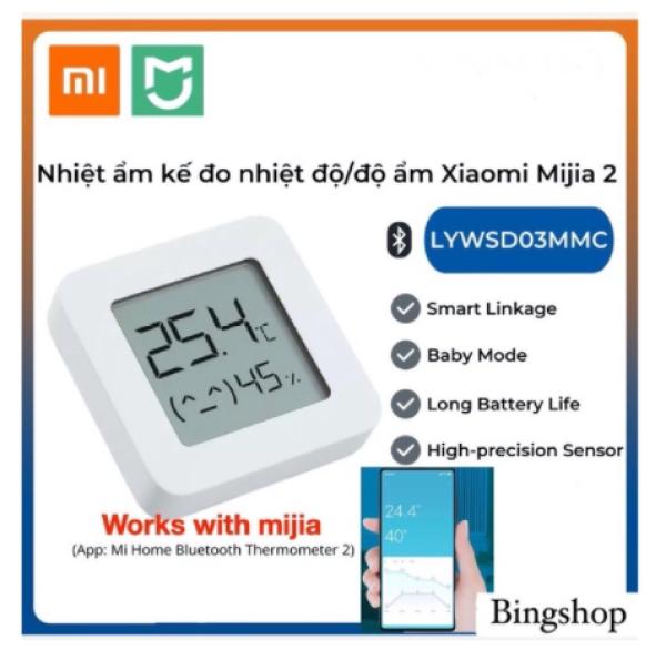 Ẩm kế thông minh gen2 Xiaomi Mijia LYWSD03MMC - Smart Bluetooth Digital Thermometer Hygrometer