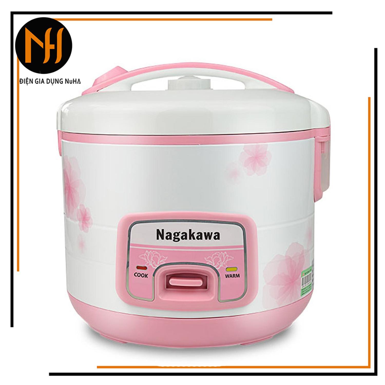 Nồi cơm điện nắp gài Nagakawa NAG0113 thích hợp cho 4 -6 người ăn, dung tích 1.8L