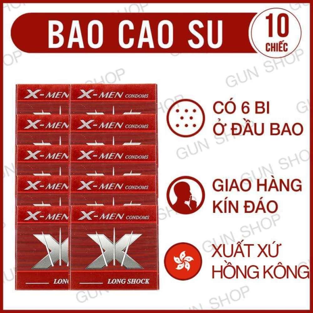 Bộ 10 (10 chiếc) Bao cao su X Bi (Hồng Kong) - Lovekiss nhập khẩu