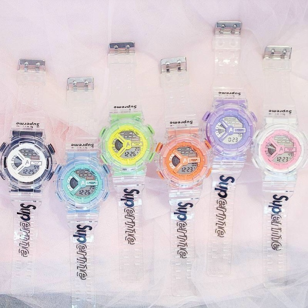 Đồng hồ thể thao điện tử nam nữ Sport Aosun Supp dây silicon trong hf45