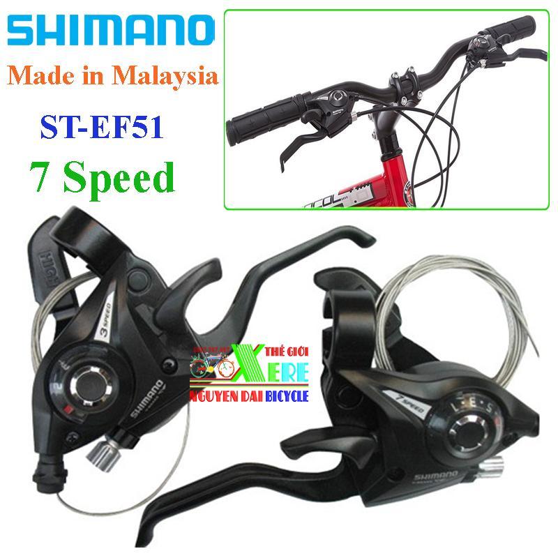 Mua Tay đề xe đạp-Tay đề Shimano EF51 7 Speed-Tay đề bấm xả