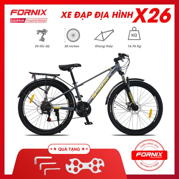 Mua Xe đạp địa hình thể thao Fornix X26 - Vòng bánh 26 inch- Bảo hành 12 tháng (Tặng kèm Bộ dụng cụ lắp ráp)