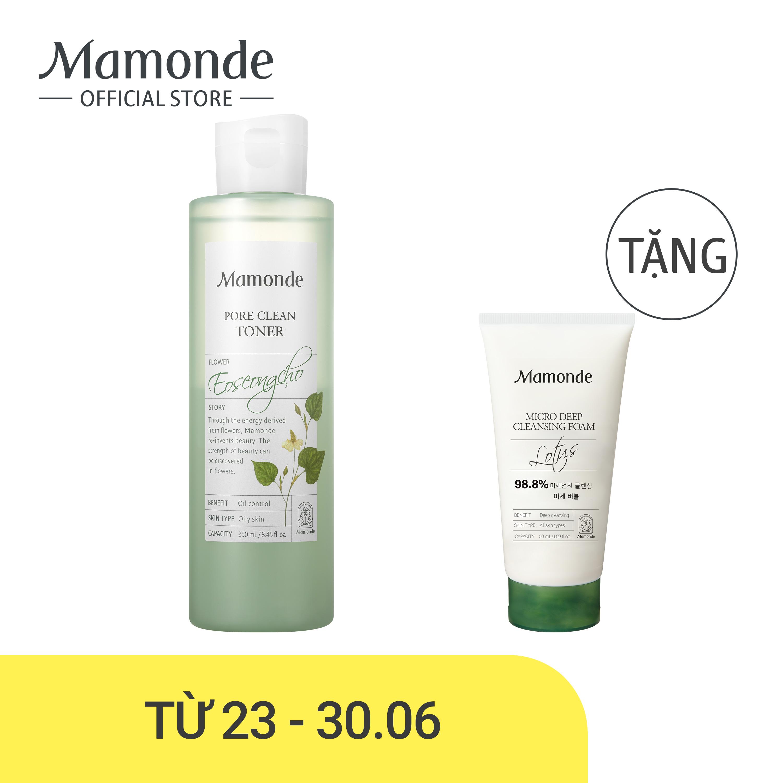 Offer Khuyến Mại Nước Cân Bằng Làm Sạch Dầu Nhờn Và Ngăn Ngừa Mụn Mamonde Pore Clean Toner 250ml