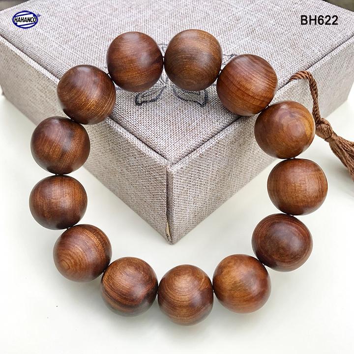 Vòng tay gỗ Bách Xanh cổ thụ thơm ngọt - vân gỗ đẹp - Mang lại tài lộc bình an (BH622)