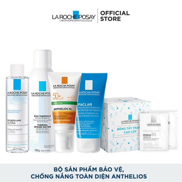 Bộ sản phẩm bảo vệ, chống nắng toàn diện La Roche-Posay Anthelios cao cấp