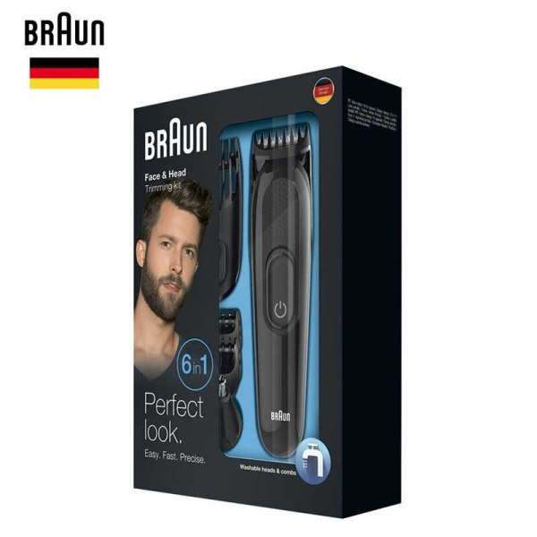 Tông đơ cắt tóc, cạo râu Braun 6 in 1