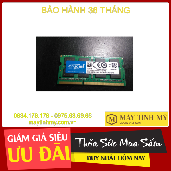 Giá [Bảo hành 36 tháng 1 đổi 1] Ram laptop 8GB PC3L bus 1600, Ram laptop 8G PC3L bus 1600, Ram laptop 8G PC3L, Ram laptop 8GB DDR3L bus 1600,Ram laptop 8GB DDR3 bus 1600, Ram máy tính xách tay 8GB PC3L - 12800, DDR3L 8GB bus 1600