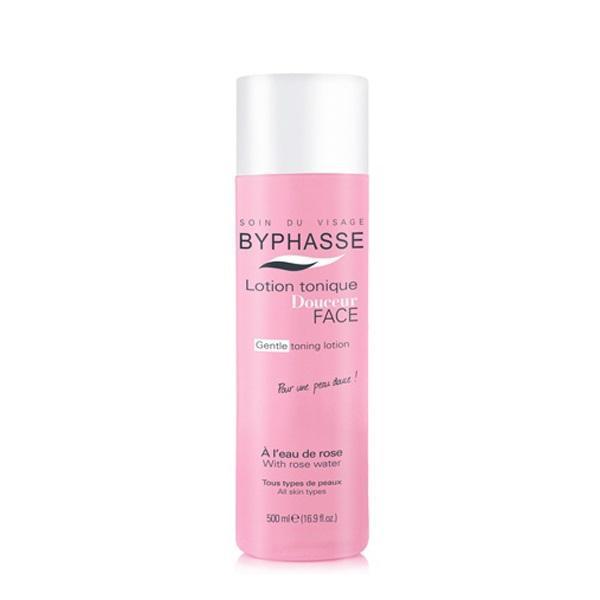 Nước Hoa Hồng Soin Du Visage Byphasse - 500ml Chai màu hồng