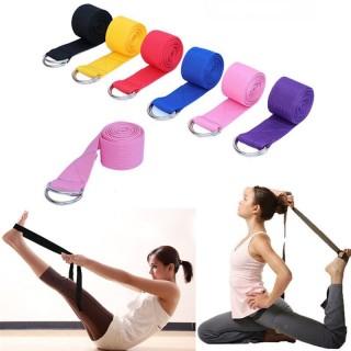 Dây tập Yoga Cotton loại tốt dài 1,8m x 3,8cm hỗ trợ tập động tác khó, tăng độ dẻo uốn người tập Yoga thumbnail