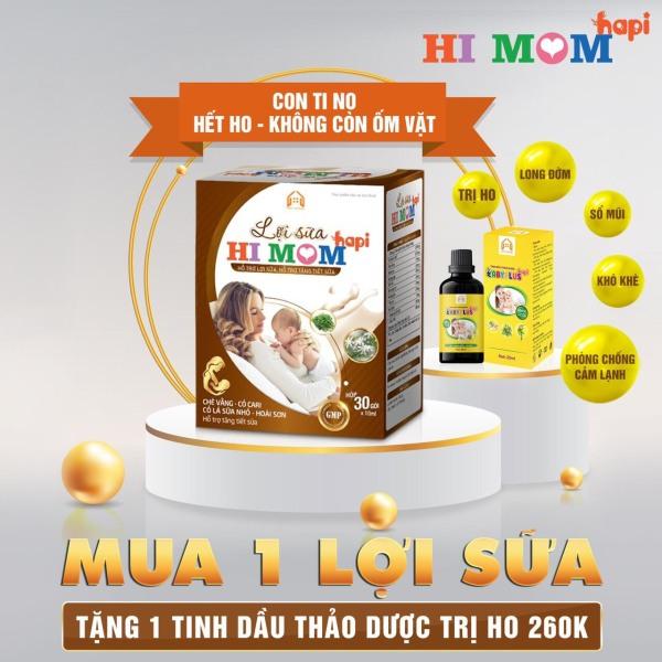 HI MOM Lợi Sữa HaPi, Hỗ Trợ tăng Tiết Sữa, Giảm Nguy Cơ Tắc Tuyến Sữa, Sữa Về Nhanh, Thơm Ngon, Giàu Dinh Dưỡng (mua 1 tặng 1)