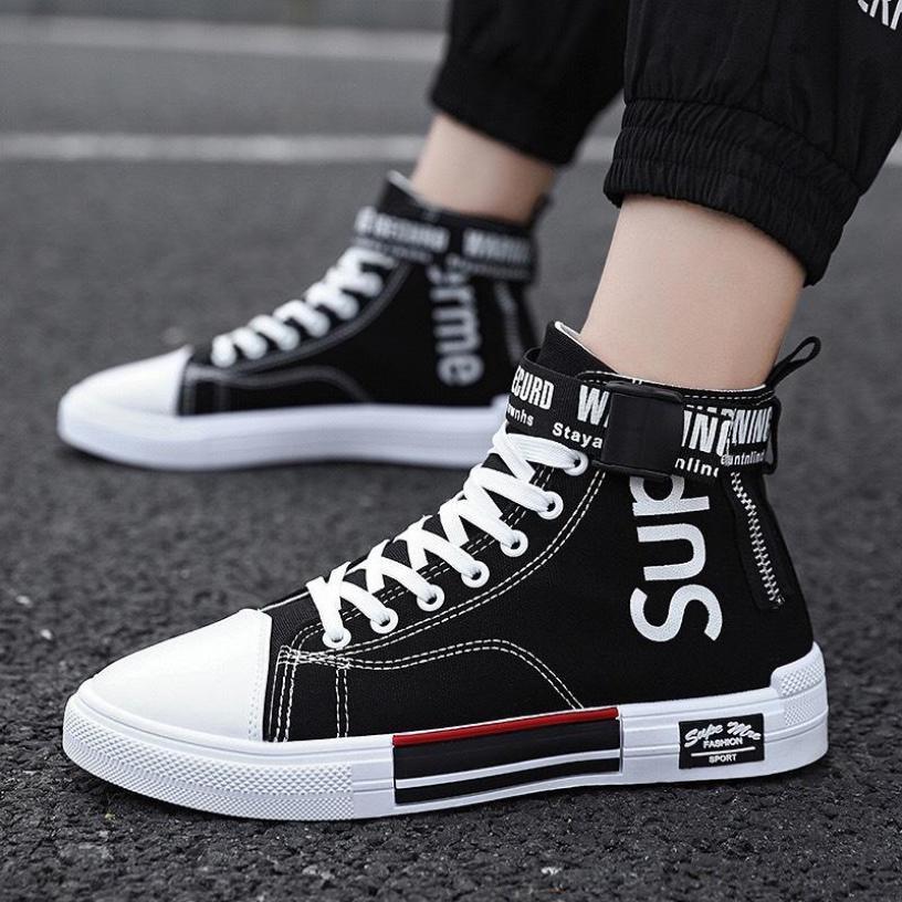 Giày nam cổ cao Sup classic - MinhNhat, ,giày vải nam thoáng khí 4 mùa, kiểu dáng Classic dễ phối đồ siêu đẹp giá rẻ