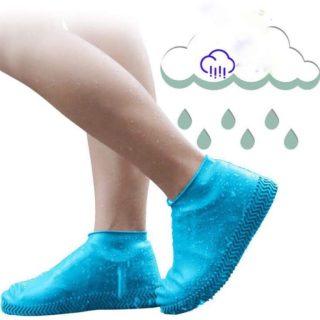 (LOẠI CAO CẤP) 01 đôi Bọc Giày Silicon Không Thấm Nước Có Thể Tái Sử Dụng Bọc Giày Đi Bộ Chống Mưa Chống Trượt 2