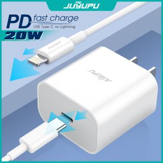 Sạc iPhone JUYUPU A11 cao cấp PD 20W gồm cốc và dây sạc iPhone nguyên bộ chính hãng củ sạc nhanh thumbnail