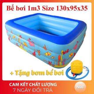 Bể bơi cho bé 3 tầng, bể bơi trong nhà. Bể bơi Intex 3 tầng cho bé đủ mọi loại kích cỡ 135cm, 150cm, 180cm, 210cm. Chất liệu dày dăn, tặng kèm bơm chân, miếng vá bể . Kiểu dáng đẹp, độ bền cao. Bảo hành uy tín. thumbnail