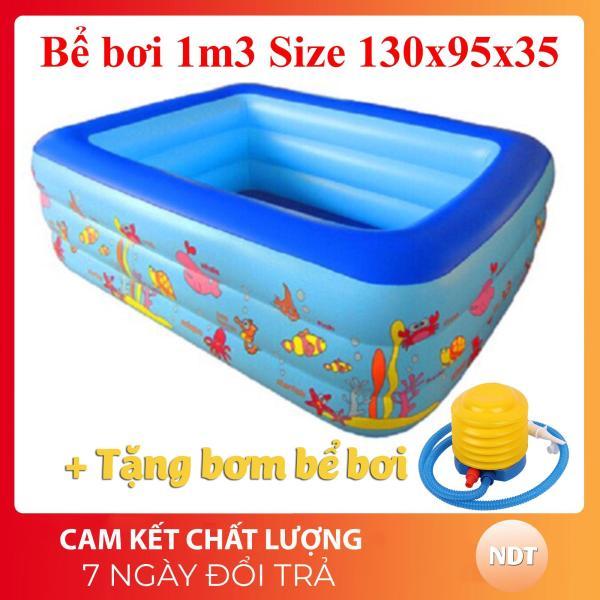 Bể Bơi Phao 3 Tầng 130cm 135cm dày dặn đàn hồi tốt đem đến không gian vui chơi và tắm mát ngay tại nhà cho bé yêu Giảm giá sốc 50% bảo hành 1 đổi 1 - Sản Phẩm Giá Tốt, Chất Lượng Vượt Trội