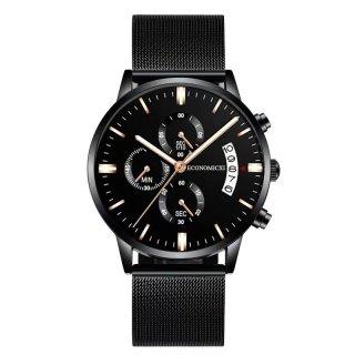 Đồng hồ nam YOLAKO dây thép đen có lịch ngày cao cấp GF03 thumbnail