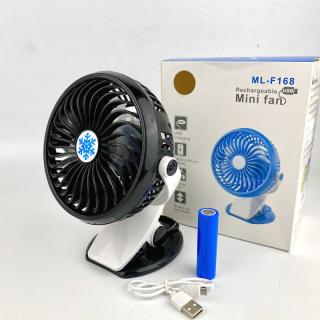 Quạt mini - Quạt để bàn - Quạt Mini Sạc Pin Kẹp Bàn Xoay 360 Độ Tiện Dụng ML-F168, Quạt Kẹp Bàn Không Chiếm Không Gian Siêu Mát Mẻ Với 3 Tốc Độ Gió Thông Minh( QUẠT MINI KẸP BÀN) thumbnail