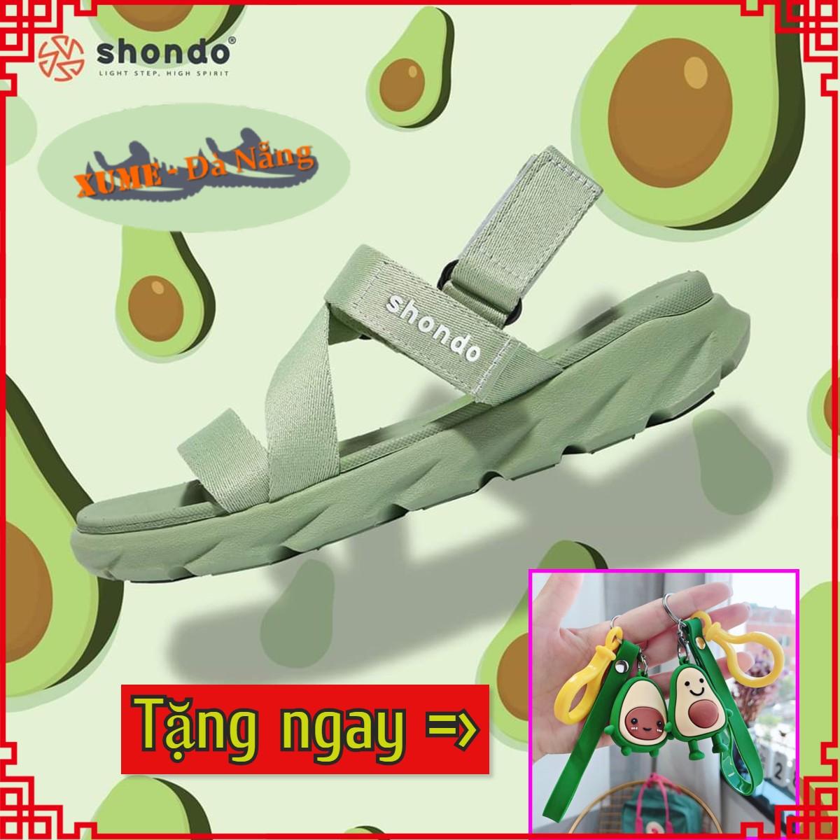 Hot Deal Khi Mua Sandal Nữ Siêu Xinh Shondo - Sandan Màu Xanh Bơ F6S007 - Bảo Hành 12 Tháng - Giày Dép Quai Hậu Ngang đi Học Shat Saado Vento Shodo Sondo Sandals