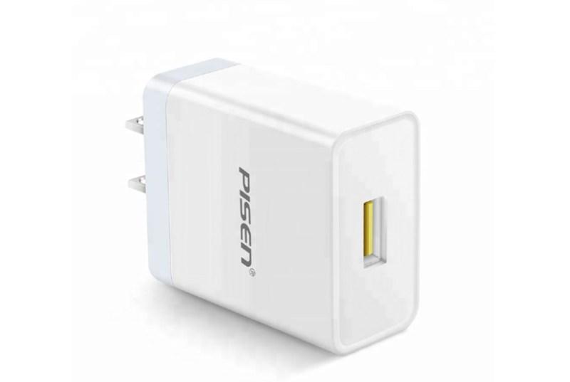 Cốc Sạc Pisen USB Fast Wall Charger (1 cổng USB QC3.0, 18W)