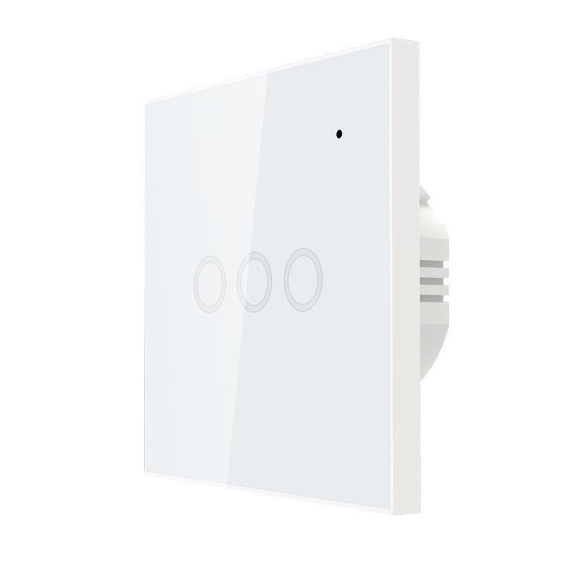 Công tắc cảm ứng âm tường Wifi thông minh Tuya hình vuông 3 nút NAS-SC03W-3