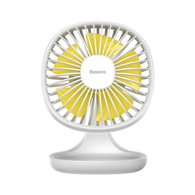 Quạt Mini Baseus Cổng USB micro 3 chế độ gió tiện ích văn phòng nhỏ gọn Pudding-Shaped Fan - Phân phối bởi Baseusstore CXBD