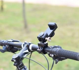 Giá đỡ điện thoại xe đạp - Giá đỡ điện thoại xe đạp chống trộm thép không gỉ có la bàn xoay 360 độ chắc chắn chống trộm thumbnail