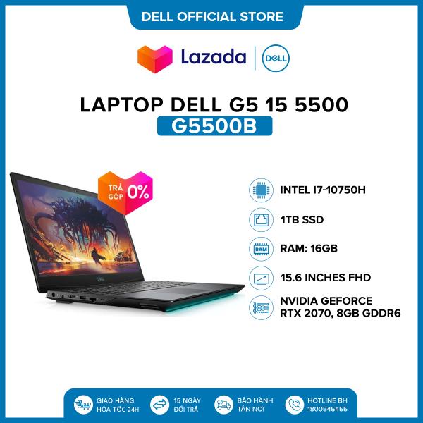 Bảng giá Laptop Dell G5 15 5500 15.6 inches FHD (Intel / i7-10750H / 16GB / 1TB SSD / NVIDIA GeForce RTX 2070, 8GB GDDR6 / Finger Print / Win 10 Home Plus SL) l Black l G5500B (P89F003) l HÀNG CHÍNH HÃNG Phong Vũ
