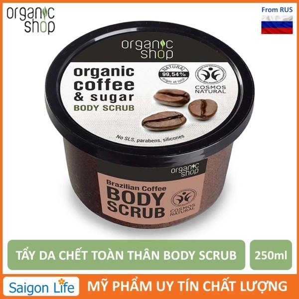 Tẩy Tế Bào Chết Toàn Thân Organic Shop Organic Coffee & Sugar Body Scrub 250ml cao cấp
