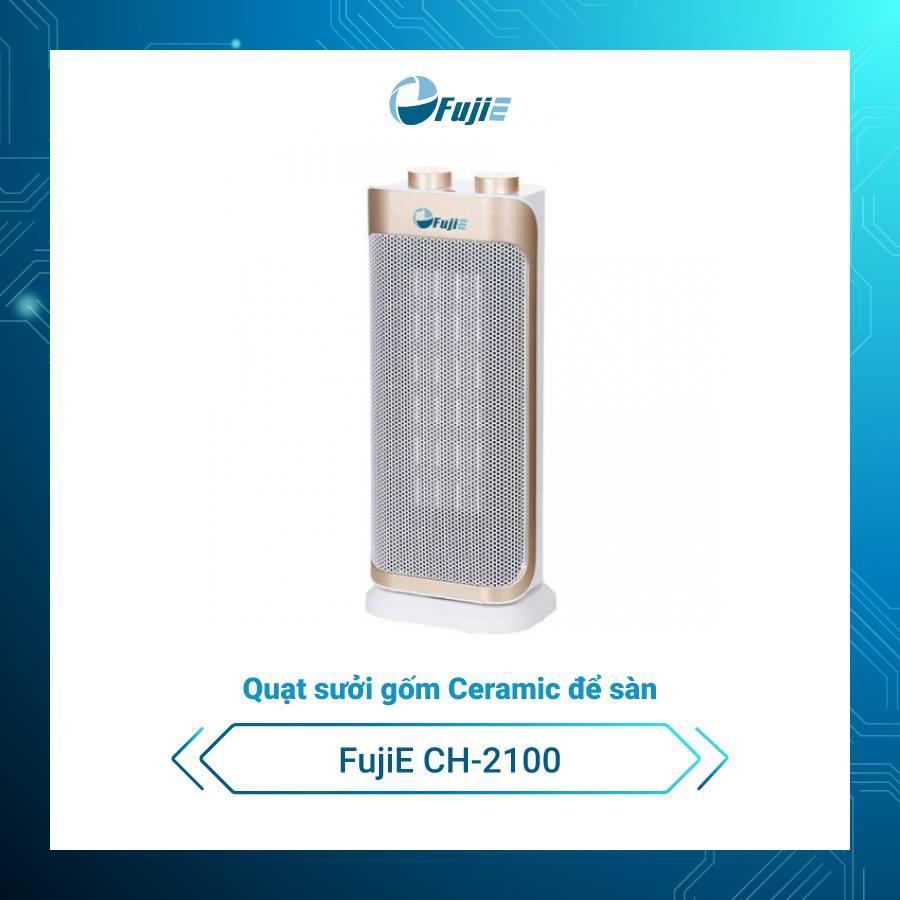 Quạt sưởi gốm để sàn Ceramic FujiE CH-2100 không đốt oxi, làm nóng nhanh,không phát sáng