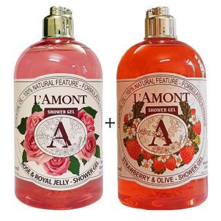 2 chai Sữa Tắm LAmont En Provence Hương Hoa Hồng và Dâu Tây - 500ml chai thumbnail